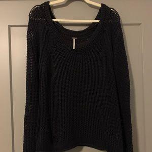 Free People Black Sweater - Medium